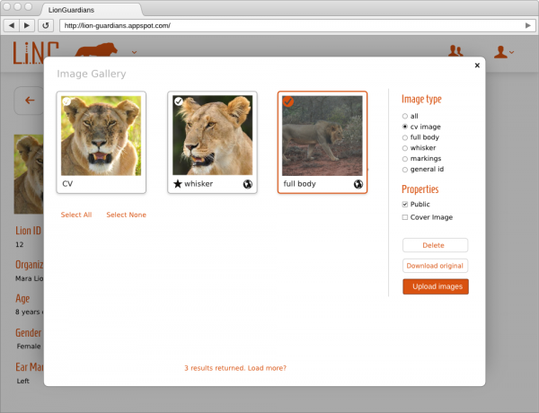 LINC webapp